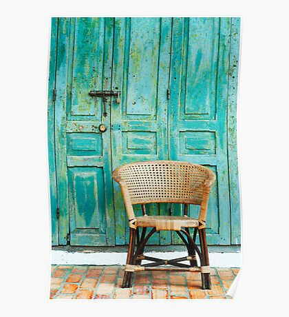old door and chair  Poster