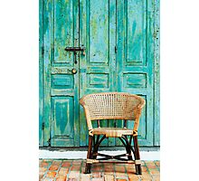 old door and chair  Photographic Print