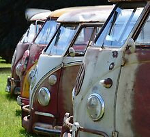 VW Buses Lined up by UKGh0sT