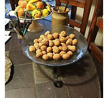 A Bowl of Walnuts Photographic Print