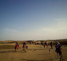Caravan in the desert by PurpleAardvark