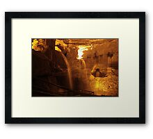 Cathedral Cave, National Showcaves, Brecon Framed Print