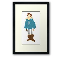 Rhys just wants to be warm Framed Print
