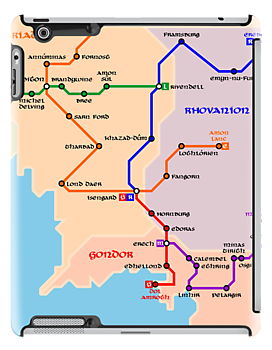Mapa del metro de la Tierra Media | Middle-Earth metro map by tudi