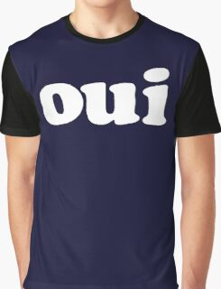 oui - white Graphic T-Shirt
