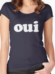 oui - white Women's Fitted Scoop T-Shirt