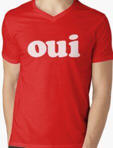 oui - white Mens V-Neck T-Shirt