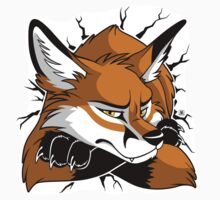 Sticker - STUCK Red Fox by tanidareal