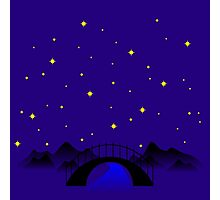 Midnight over the river Photographic Print