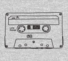 Retro Cassette Tape One Piece - Long Sleeve