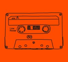 Retro Cassette Tape Kids Tee