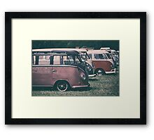 Classic VW Buses  Framed Print