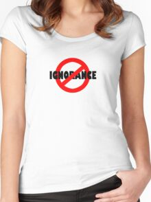 No Ignorance Allowed Women's Fitted Scoop T-Shirt