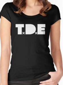 TDE - White Women's Fitted Scoop T-Shirt