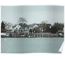 Edgartown Harbor from Chappy ferry Poster