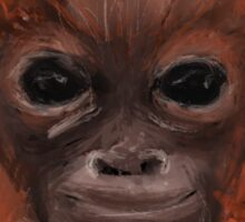 Cute lil orang-outang ginger monkey   Sticker