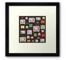 vintage television pattern Framed Print