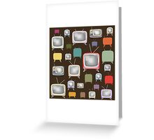 vintage television pattern Greeting Card