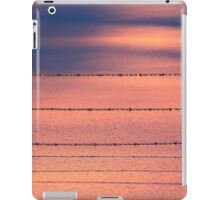 Pink Blue Snow Fence Wire iPad Case/Skin