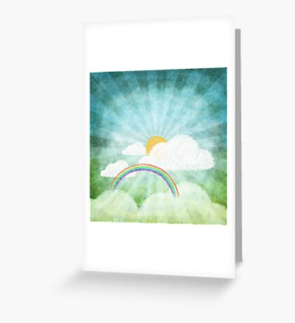 after rainy Greeting Card