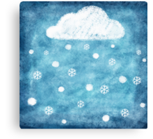 snow winter Canvas Print