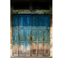 Old China Door Photographic Print
