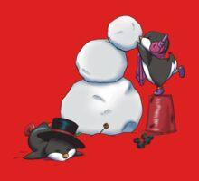 2 penguins, 1 snowman Baby Tee