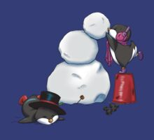 2 penguins, 1 snowman by easycomics