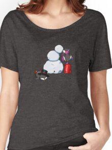 2 penguins, 1 snowman Women's Relaxed Fit T-Shirt