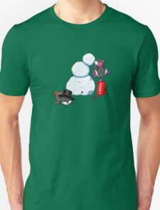 2 penguins, 1 snowman T-Shirt