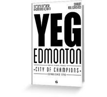 YEG - Edmonton Greeting Card