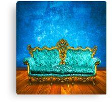 victorian sofa Canvas Print