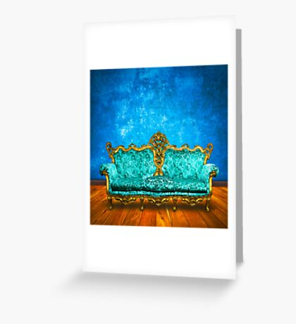 victorian sofa Greeting Card
