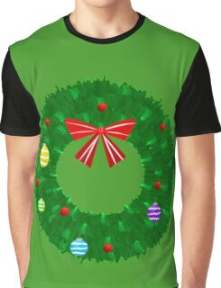 Christmas Wreath Graphic T-Shirt