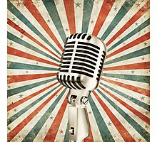 vintage microphone Photographic Print