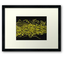 water pattern Framed Print