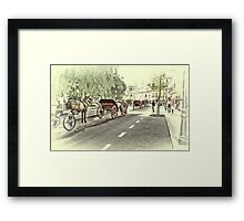 Horse-drawn Carriages Framed Print
