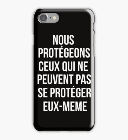 Teen Wolf cover - we protect those who can't protect themselves iPhone Case/Skin