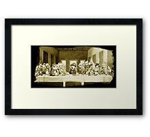 Last Supper Smash Bros Framed Print