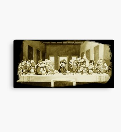 Last Supper Smash Bros Canvas Print