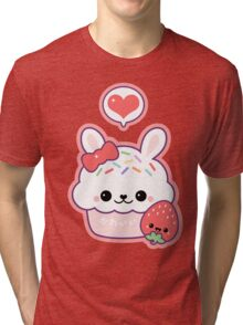 Cute Bunny Cupcake Tri-blend T-Shirt