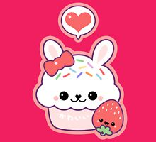 Cute Bunny Cupcake Womens Fitted T-Shirt