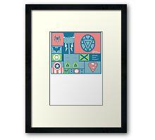 All the Heros Framed Print