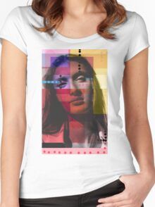 Geometric Girl Women's Fitted Scoop T-Shirt
