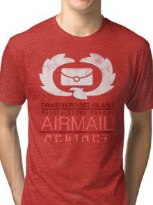 Zelda Wind Waker - Dragon Roost Island Airmail Tri-blend T-Shirt