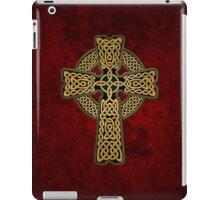 Celtic Cross in gold colors iPad Case/Skin