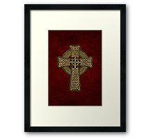 Celtic Cross in gold colors Framed Print