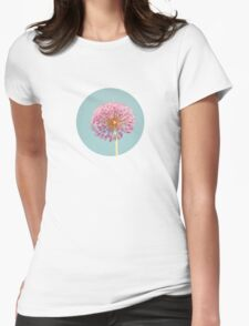 Pink Allium Womens Fitted T-Shirt