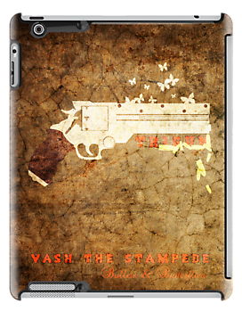 Trigun - Bullets & Butterflies Textured (iPad) by Adam Angold