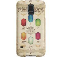 Legend of Zelda The Rupees Geek Line Artly Samsung Galaxy Case/Skin